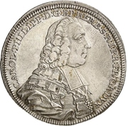 ½ Thaler - Karl Philipp von Greiffenklau zu Vollraths (1/2 Konventionstaler) – avers