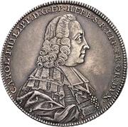 1 Thaler - Karl Philipp von Greiffenklau-Vollraths (Konventionstaler) – avers