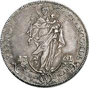 ½ Thaler - Adam Friedrich von Seinsheim (Konventionskreuzer) – revers