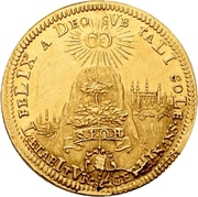 1 Goldgulden - Christoph Franz von Hutten – avers