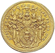1 Goldgulden - Anselm Franz von Ingelheim – avers