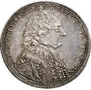 ½ Thaler - Christoph Franz von Hutten – avers