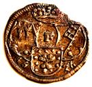 1 Kortling (1/84 Gulden) – avers