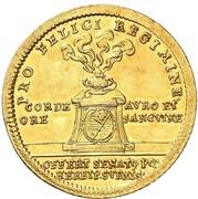 1 goldgulden Johann Philipp Franz de Schönborn (ascension) – revers