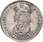 20 Kreuzer - Adam Friedrich von Seinsheim (Konventionskreuzer) – revers