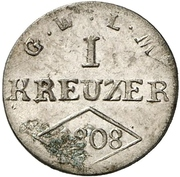 1 Kreuzer - Ferdinand von Österreich – revers