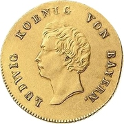 1 Goldgulden - Ludwig I. – avers
