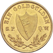 1 Goldgulden - Ludwig I. – revers
