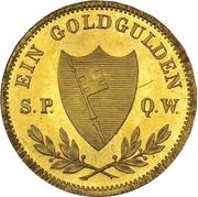 1 Goldgulden - Maximilian II. – revers