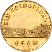 1 Goldgulden - Ludwig II. – revers