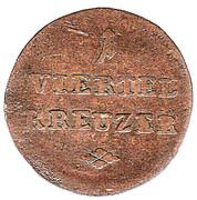 ¼ Kreuzer - Ferdinand d'Autriche – revers