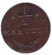 ½ Kreuzer - Ferdinand d'Autriche – revers