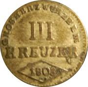 3 Kreuzer - Ferdinand d'Autriche – revers