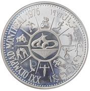 10 Rials (Jeux olympiques Montréal 1976) – revers