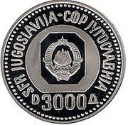 3000 dinars (200ème anniversaire de la naissance de Vuk Karadžić) – avers