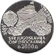 2000 dinars (Sinska Alka) – avers