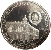 1000 dinars – avers