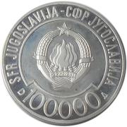 100 000 dinars (Le sommet de non alignement) – avers