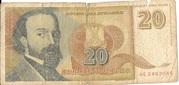 20 Novih Dinara – avers