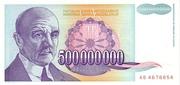 500,000,000 Dinara – avers