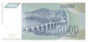 5,000 Dinara – revers
