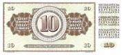 10 Dinara – revers
