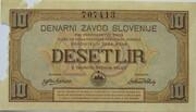10 Lir (Occupation of Slovenia) – avers