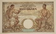 1000 dinara – revers