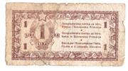 1 Lira 1945 – avers