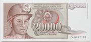 20 000 Dinar – avers