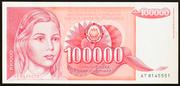 100 000 Dinar – avers