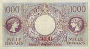 4000 Kruna (overprint on 1000 Dinara) 1919 – revers