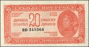 20 Dinara – avers