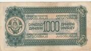 1000 Dinarjev/Dinara 1944 – revers