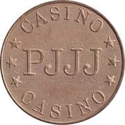 Jeton de jeu - Casino PJJJ (28.5 mm, laiton) – avers