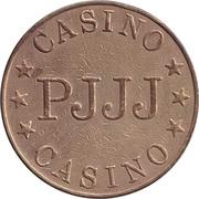 Jeton de jeu - Casino PJJJ (28.5 mm, laiton) – revers