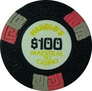 100 Dollars - Harold's Maestral Yu Casino (Miločer, Montenegro) – revers