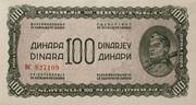 100 Dinarjev/Dinara 1944 – avers