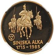 40000 Dinara - Sinjska Alka – revers