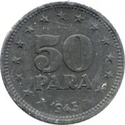 50 para (après guerre) – revers