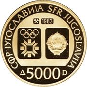 5000 Dinara (Winter Olympics 1984 - Tito) – avers