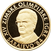 5000 Dinara (Winter Olympics 1984 - Tito) – revers