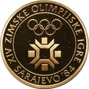 5000 Dinara (Winter Olympics 1984 - Emblem) – revers