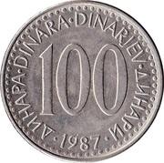 100 dinars -  revers