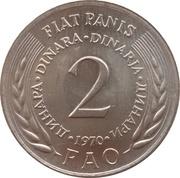 2 dinars (FAO) – revers