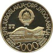 2000 Dinara (Jeux Méditerranéens Split 1979) – avers