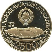 2500 Dinara (Jeux Méditerranéens Split 1979) – avers