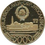 5000 Dinara (Jeux Méditerranéens Split 1979) – avers
