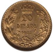 20 dinars (Royaume des Serbes, Croates et Slovènes) – revers