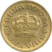 2 dinars (Royaume de Yougoslavie - grande couronne) – avers